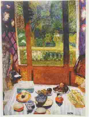 Dining room overlooking the garden Limited edition