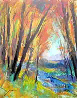 Original Oil Painting on Canvas Michael Schofield