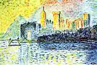The Palace Rivera Pastel Andre Derain