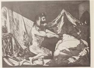 Satyr and Sleeping women Lithograph Picasso