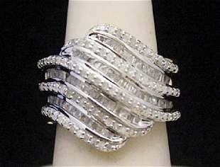 Beautiful 14kt over Silver Ring with Diamonds 156I