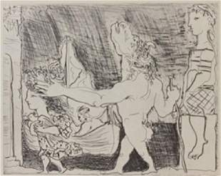Minotaur a Foot Lithograph Picasso