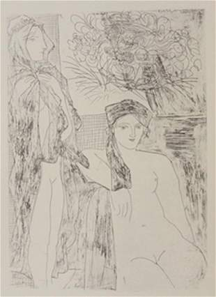 two nudes lithograph picasso