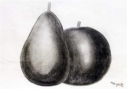 Fruits 1951' - Drawing on Paper - Rene Magritte