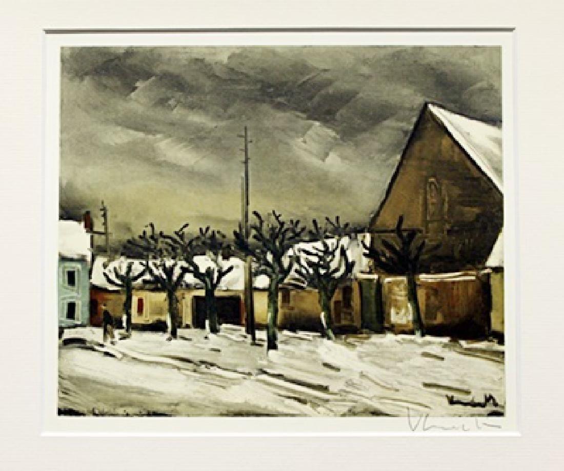 Allainville Under The Snow - Maurice De Vlaminck -