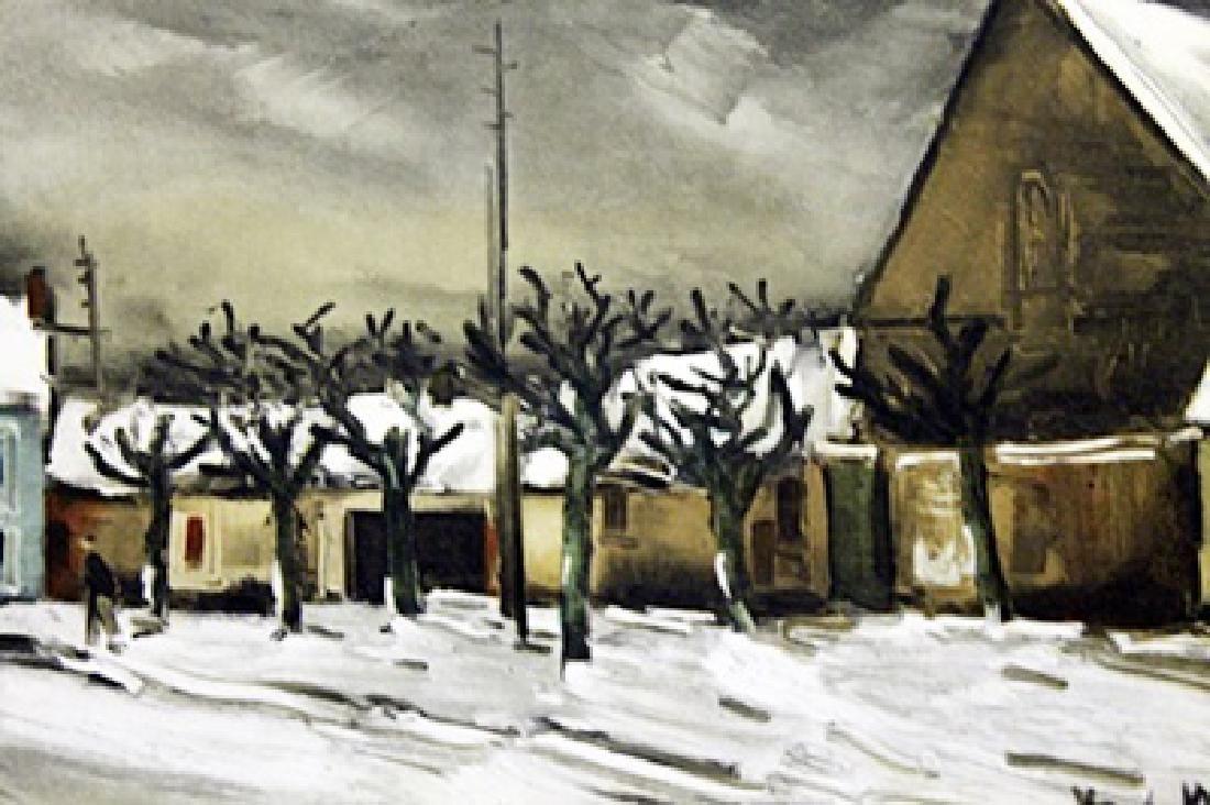 Allainville Under The Snow - Maurice De Vlaminck - - 2