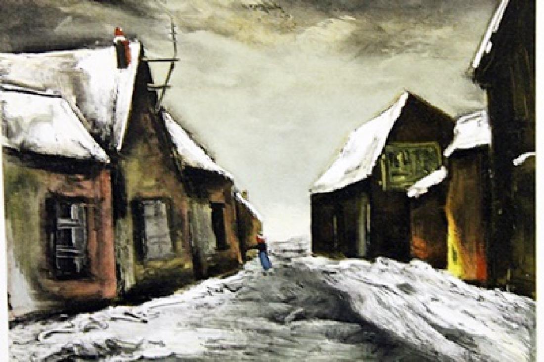 Allainville Under Snow - Maurice De Vlaminck - - 2