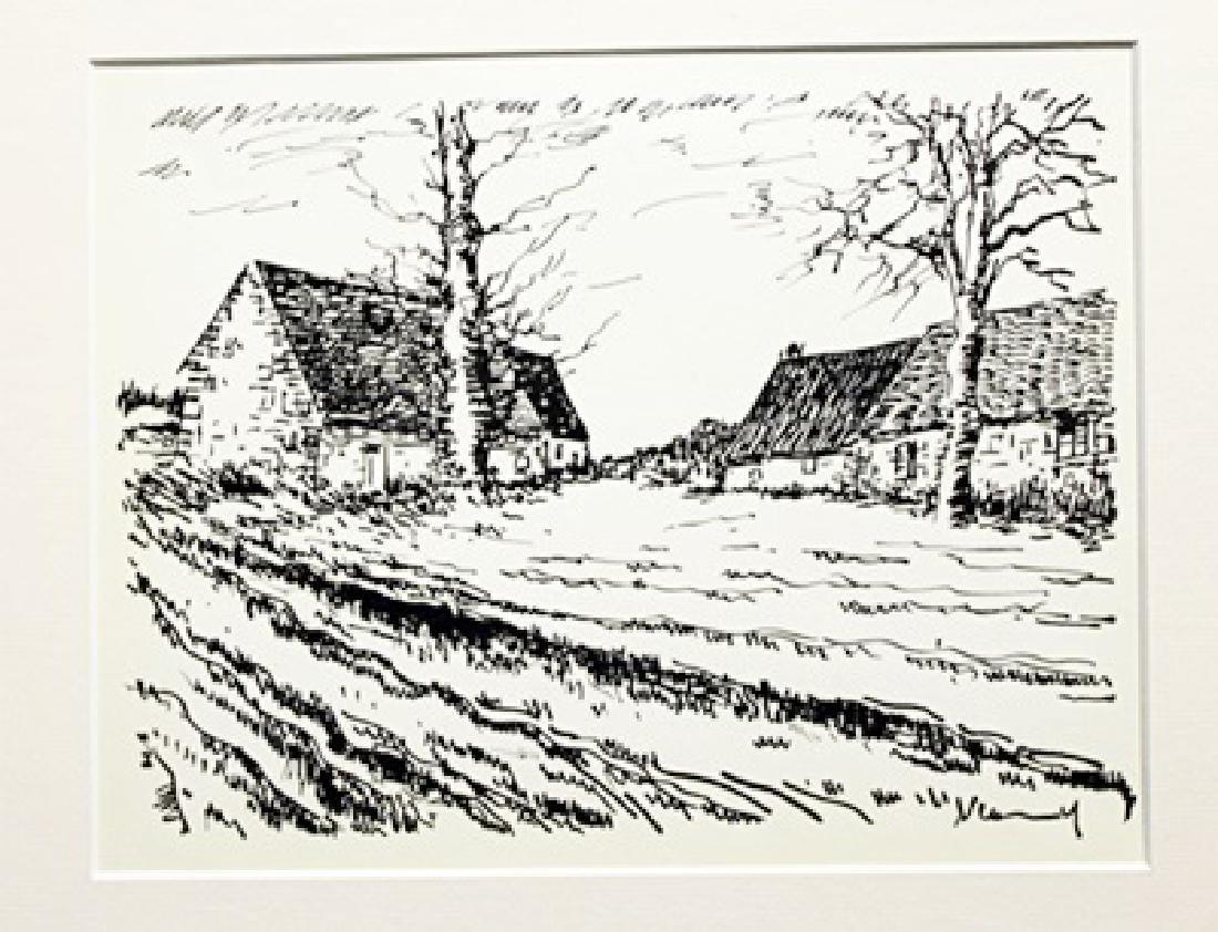 Les Challonges - Maurice De Vlaminck - Lithograph