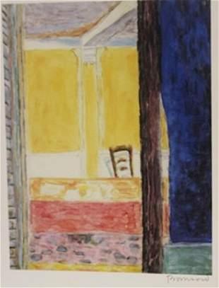 Front porch Signed Lithograph Bonnard