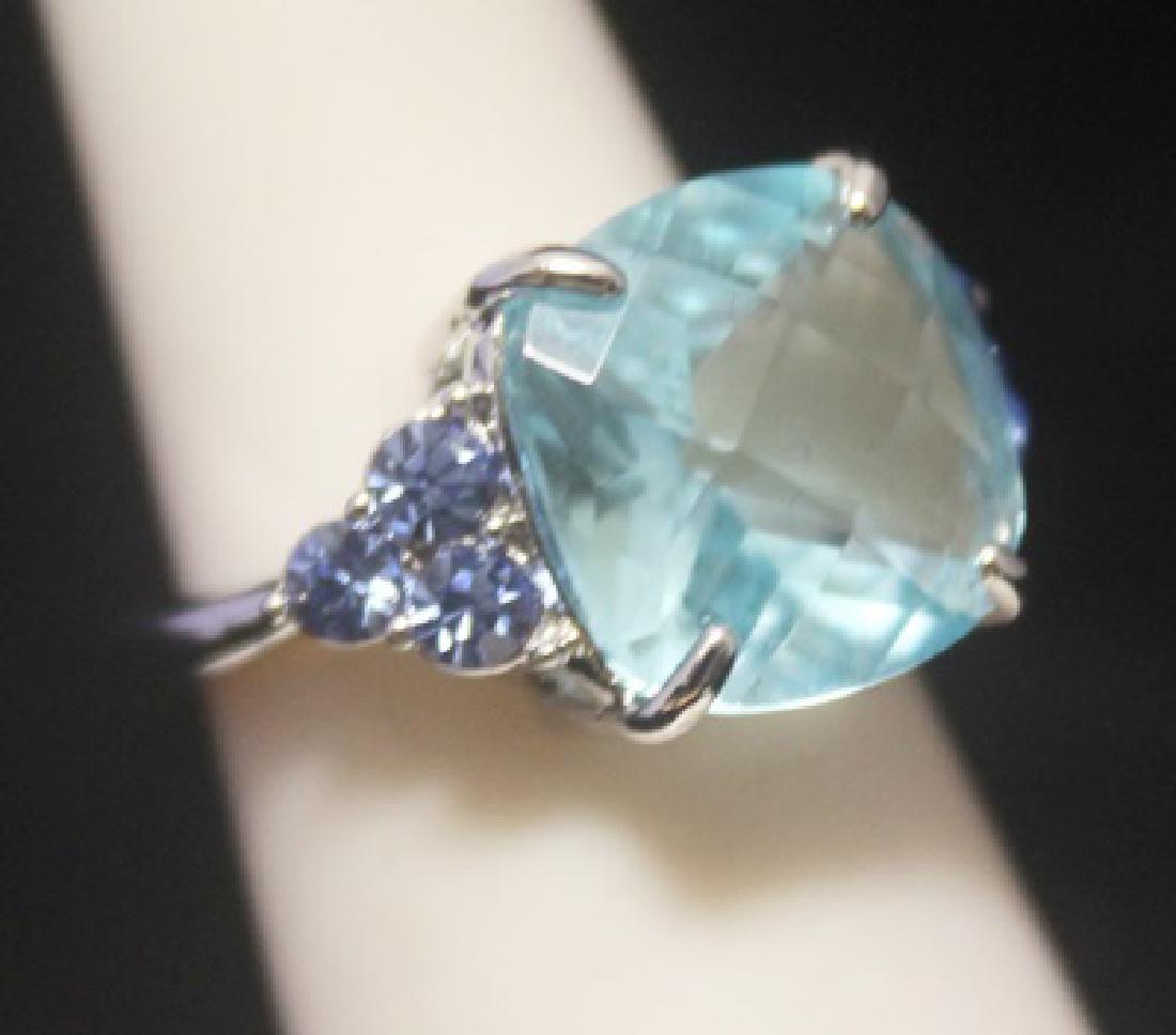 Stunning Royal Blue Topaz Silver Ring