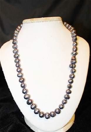 Baroque Dark Grey Color Pearl Necklace