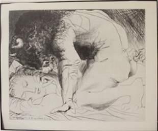 Minotaurs Embrace Lithograph Picasso
