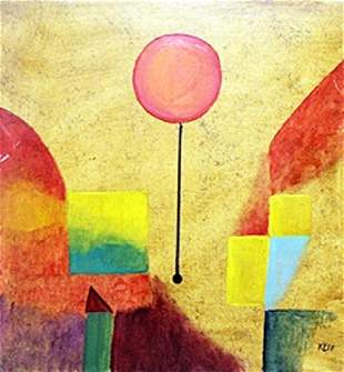 The Balloon 1914 Oil on Paper Paul Klee