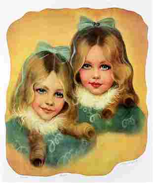 Lithograph The Sisters after Rhoda S
