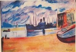 Pierre Bonnard Blue Boat