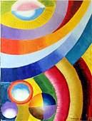 Oil Painting on Masonite Board Robert Delaunay