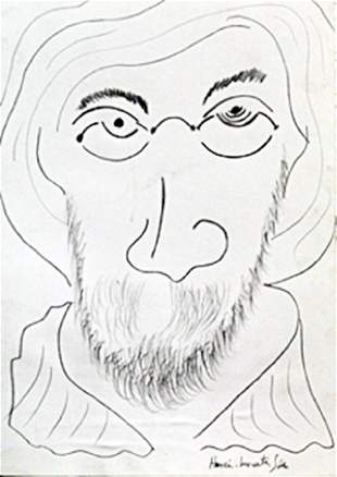 Self Portrait Drawing on Paper H Matisse 40