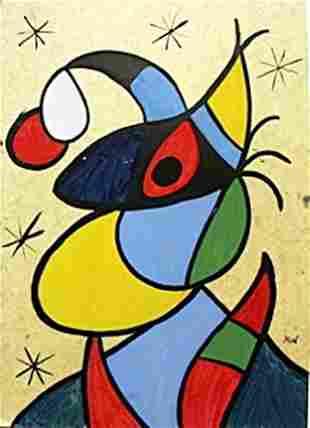 Brujacon Sombrero Oil on Paper Joan Miro