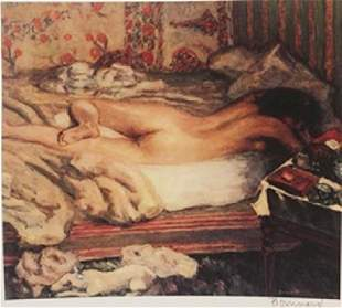 Nude Lying in bed Signed Lithograph Bonnard