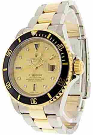 Mens DiamondDial Submariner Rolex