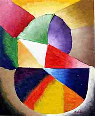 Oil Painting on Paper Robert Delaunay