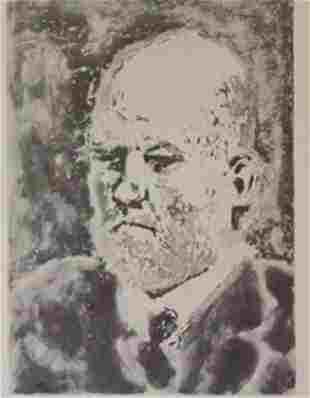 Eldest man Lithograph picasso