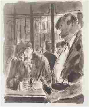 Drinks at the bar Lithograph Lamb