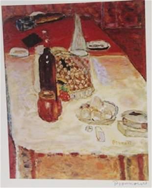 A set Table Signed Lithograph Bonnard