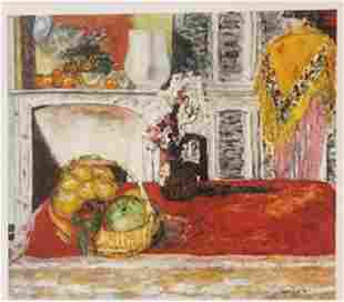 Fruit Basket Lemons pear Lithograph Bonnard
