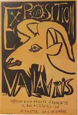 1952 Vallavris Lithograph Picasso