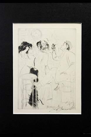 Sportmen Louis Legrand Drawing