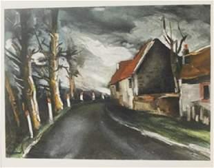 The long road Lithograph Maurice de Vlaminck