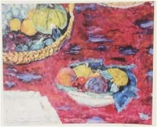 Fruit Signed Lithograph Bonnard