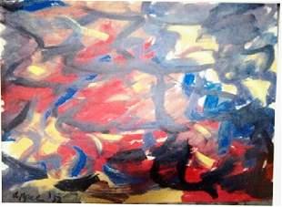 Karel Appel Oil on Paper The Soul