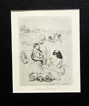 Pastorale Louis Legrand Drawing