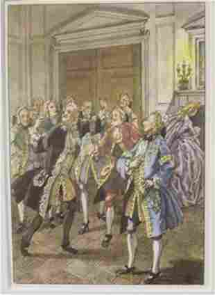 Men In The courthouse Lithograph Cleland