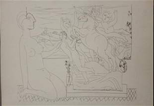 Model kneeling Lithograph picasso