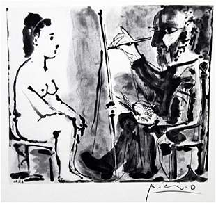 Signed Pablo Picasso Drawing