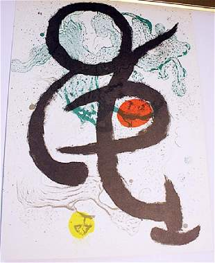 Lithograph after Joan Miro