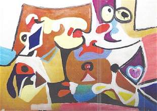 Composition Arshile Gorky Oil On Paper