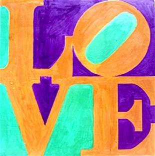 Love No 9 Robert Indiana