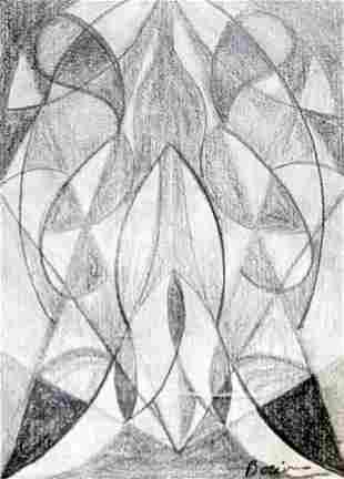 Materia 1912 Drawing on Paper Umberto Boccioni