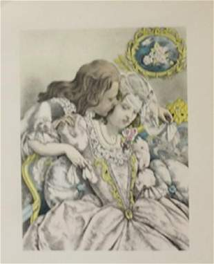 Wedded Couple Lithograph Legrand