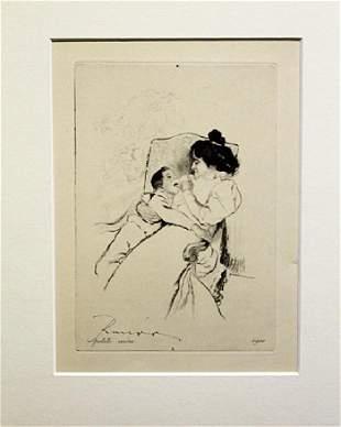 Petite Mere Louis Legrand Drawing