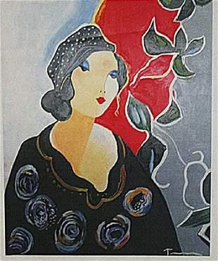 Itzchak Tarkay Woman Portrait