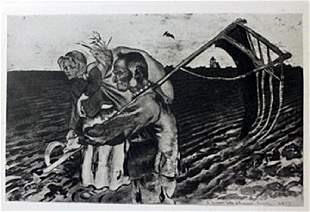 The fields Lithograph Souris