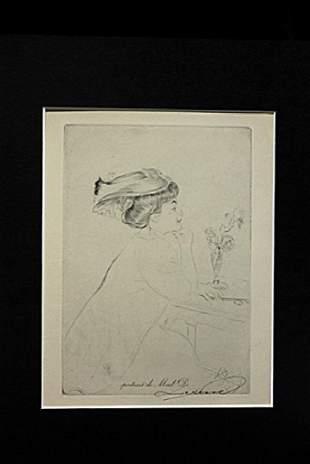 Portrait De Mad D Louis Legrand Drawing