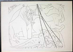 Girl Horse And Minotaur Lithograph Picasso