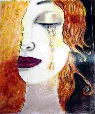 Judith Gustav Klimt Pastel On Paper