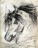 The Horse - Grahpite Drawing - Giorgio De Chirico